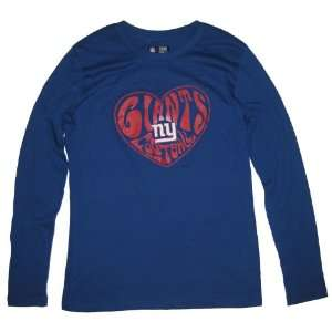 New York Giants NFL Womens Team Apparel Long Sleeve Tee