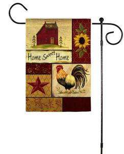 Country Home Sweet Home Garden Rooster Folk Small Flag