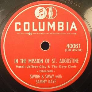 Lot of Four 78 RPM Records SWING & SWAY SAMMY KAYE (O)