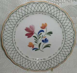 Provincial Designs Nikko Dinner Plate Pink Blue Flower