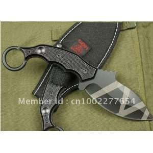 fixed blade survival bowie hunting knife h43