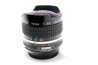 Nikkor Ai 16mm f2.8 lens Fisheye super wide angle fish eye