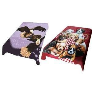Super soft Mink Blanket Eagles Vs. Puppies