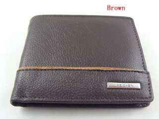 Mens Fashion Style Black & Brown Real Genuine Leather Zip Wallet Purse