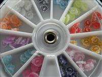 120pcs Nail Art 3D PVC Flower Round Wheel DIY Professional Slice