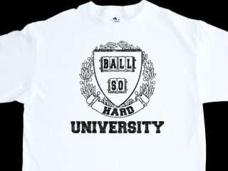 BALL SO HARD UNIVERSITY SIZE L WHITE DJ T SHIRT SUGGS
