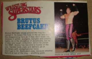 LJN WWF Brutus Beefcake wrestling figure w/ card WWE