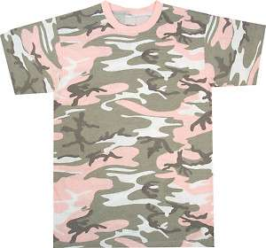 SUBDUED PINK Camouflage Tee Military Army Camo T SHIRT