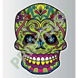 Sugar skull 4 4 sticker vinyl decal 3 x 2.2
