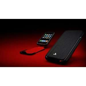 Vaja Black/Red Limited Edition Leather Flip Case for Apple