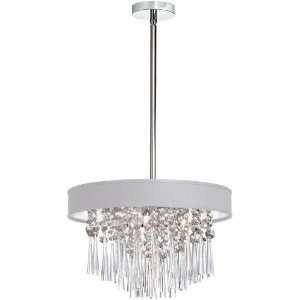 Dainolite 4 Lite Polished Chrome Clear Crystal Pendant With Baroness