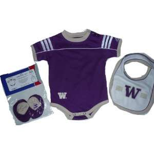 Washington Huskies Onesie Bib Booties Baby 6 9 Month: Baby