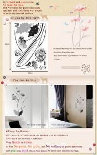 SS 58228 DECOR FLOWER ART WALL PAPER STICKER DECALS