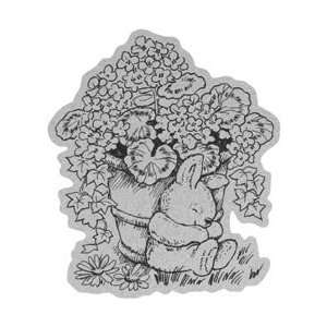 Penny Black Cling Rubber Stamp 4X6 Dreaming Geraniums