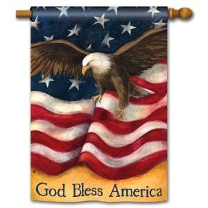 God Bless America Flag Double Sided Outdoor Living