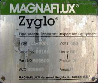 MagnaFlux Zyglo Dye Penetrant Inspection Station ZA2000