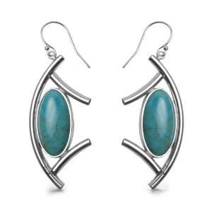 Fritz Casuse Sterling Silver Turquoise Dangle Earrings