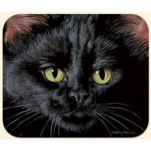 Fiddlers Elbow Black Cat Mouse Pad