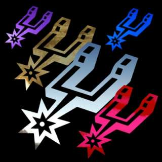 San Antonio Spurs Logo 12 Auto Window Stickers Decals