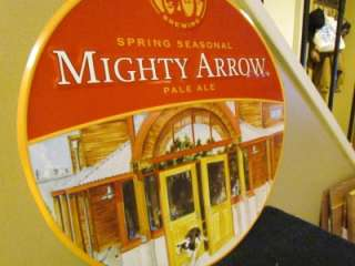 Mighty Arrow Pale Ale New Belgium Brewing Company Beer Tin Metal Sign