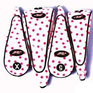 JGolf Pink Polka Dot Ladies Golf Club Covers Sports & Outdoors