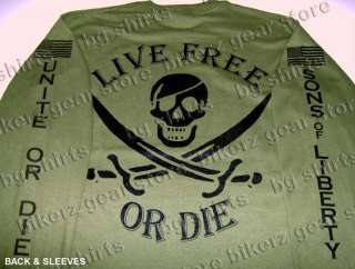 LIVE FREE Spec Ops NAVY SEALS LS T SHIRT 2X 3X OD GREEN