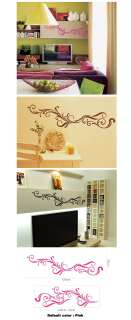 Vines Flowers Pattern Home Mural Decor Wall Stickers