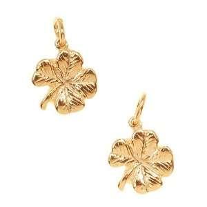 Gold Plated Charm Irish Four Leaf Lucky Clover (2) Arts