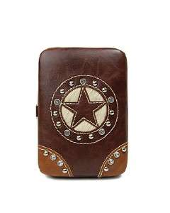 Western Star Cowgirl Mini Flat Wallet Cell Phone Case