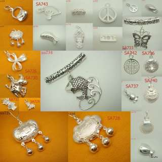 Optional Mixed 925 Sterling Silver Bracelet Earring charms Pendant