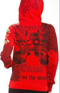 Smet Christian Audigier Scull Red Hoodie Jacket & Ed Hardy Perfume