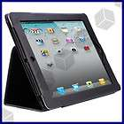 Black Leather Flip Case Smart Cover w/ Stand For Apple