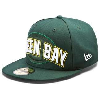 BAY PACKERS NFL NEW ERA 59FIFTY DRAFT DAY STRUCTURED FITTED HAT