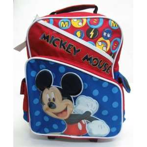 Disney Mickey Mouse M Factor 12 Rolling Backpack Toys