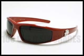 CHOPPERS Wrap Around Biker Sunglasses Small Size Dark BLACK