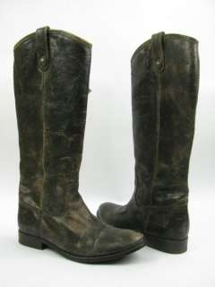 Frye Melissa Button Knee High Boot Womens 8 USED CHOCOLATE $328