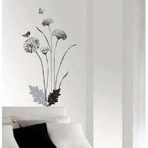 Flower Wall Paper Home Wall Decor Sticker SS 58228
