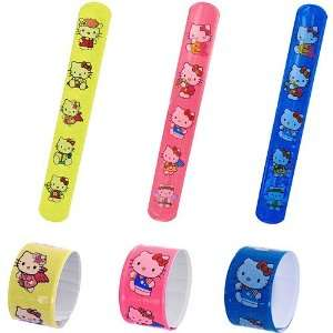 Pack of 12 Assorted Hello Kitty Slap Bracelets Arts, Crafts & Sewing