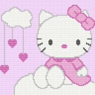Hello Kitty Afghan Blanket Graph CROCHET PATTERN