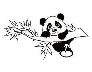 Kids Climbing Panda Removable Vinyl Wall Art Decal