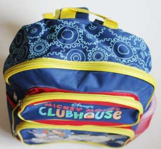 NWT Disney Mickey Mouse Clubhouse Backpack Authentic