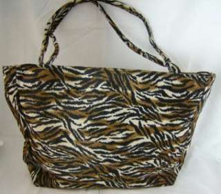 COLONY ONE STRIPED ANIMAL PRINT LARGE HANDBAG PURSE NWT CREAM / BLACK