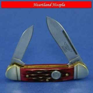 Rough Rider Mini Canoe Knife   Red Jigged Bone Handles