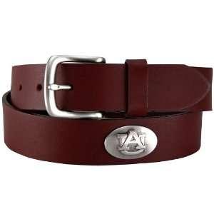 NCAA Auburn Tigers Brown Leather Concho Belt