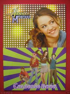 HANNAH MONTANA Coloring Sticker Book Stationary Set