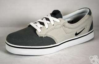 NIKE Braata Canvas Cool Grey / Black / White Men Skate Shoes New