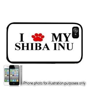 Shiba INU Paw Love Dog Apple iPhone 4 4S Case Cover Black