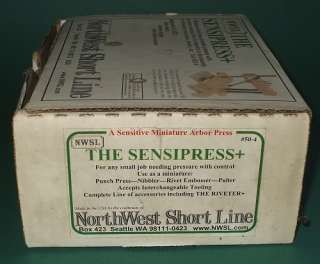 NWSL Northwest Short Line Sensipress Precision Miniature Arbor Press