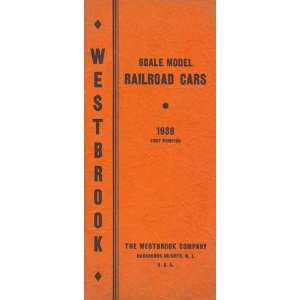Scale Model Railroad Cars: 1938: Westbrook: Books