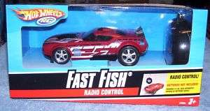 HOT WHEELS RC RADIO CONTROLED RED FAST FISH CAR